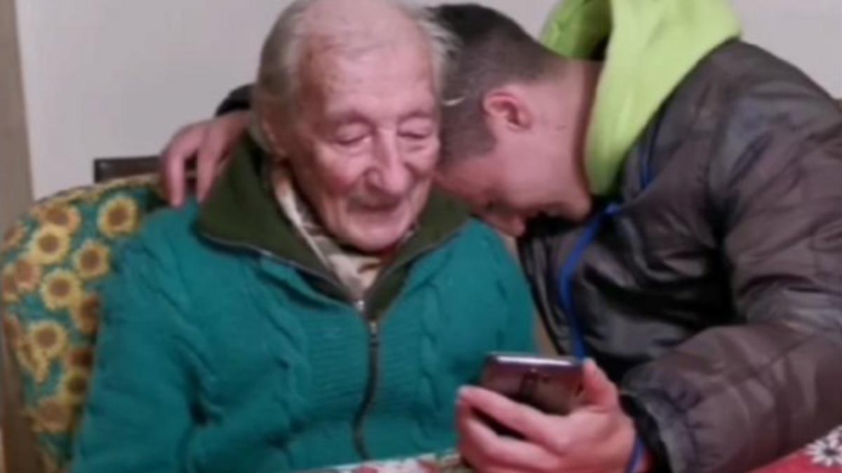 Messi sorprendió y emocionó a un abuelo de 100 años