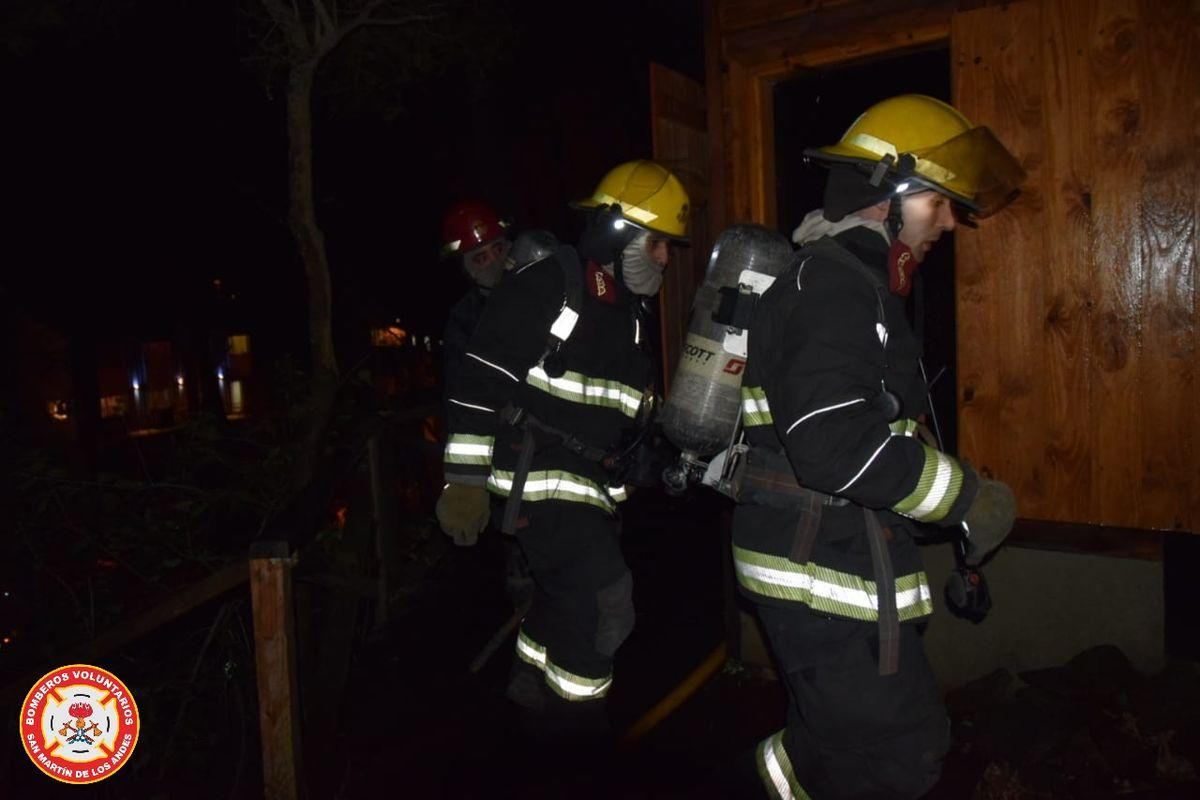 Incendio en una casa en San Martín de los Andes